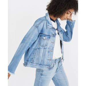 Madewell restructured jean jacket
